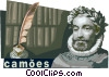 Vector Clip Art graphic  of a Luis Vaz de Camoes