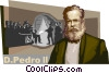 D. Pedro II, Emperor of Brazil Vector Clipart picture