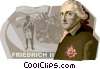 Friedrich II, The Prussia King Vector Clipart illustration