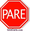 Brazilian stop sign Vector Clip Art picture