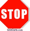 Vector Clipart picture  of a stop sign