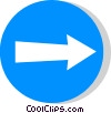 EU traffic sign, direction to be followed Vector Clipart picture