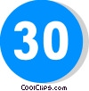 EU traffic sign, minimum speed limit Vector Clipart illustration