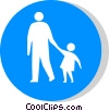 EU traffic sign, footpath Vector Clip Art picture