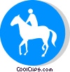 EU traffic sign, riders only Vector Clip Art picture