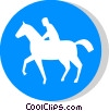 EU traffic sign, riders only Vector Clipart image