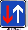 EU traffic sign, priority over oncoming vehicles Vector Clip Art picture
