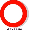 EU traffic sign, all vehicles prohibited Vector Clip Art image