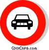Vector Clipart image  of a EU traffic sign