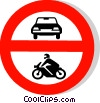 EU traffic sign, no entry for all motor vehicles Vector Clipart picture