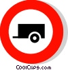 EU traffic sign, no trailers Vector Clip Art picture
