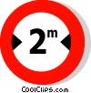 EU traffic sign, width limit Vector Clipart picture