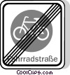 EU traffic sign, cyclists prohibited Vector Clipart illustration