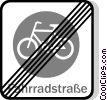 EU traffic sign, cyclists prohibited Vector Clipart picture