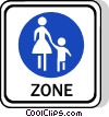 EU traffic sign, footpath Vector Clipart image