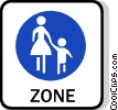 EU traffic sign, footpath Vector Clipart illustration