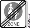 EU traffic sign, no pedestrians Vector Clip Art picture