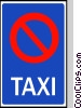 EU traffic sign, no taxis Vector Clip Art picture