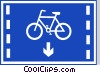 Vector Clip Art image  of a EU road sign
