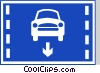 EU road sign, cars only lane Vector Clip Art picture