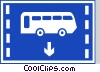 EU road sign, bus lane Vector Clipart picture