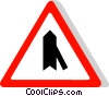 EU traffic sign, merging traffic from the right Vector Clipart illustration