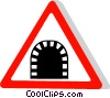 EU traffic sign, tunnel Vector Clip Art picture