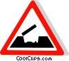 EU traffic sign, open bridge Vector Clip Art image