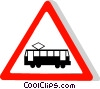 EU traffic sign, street car Vector Clipart picture