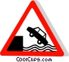 EU traffic sign, river bank Vector Clip Art picture