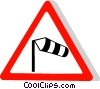 EU traffic sign, cross wind Vector Clipart illustration
