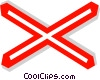 EU traffic sign, danger level crossing Vector Clipart graphic