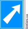 EU traffic sign, motorway exit Vector Clipart illustration