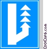 EU traffic sign, lane for slow vehicles Vector Clip Art graphic