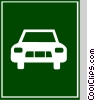 EU traffic sign, semi-motorway Vector Clipart image