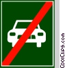 EU traffic sign, end of semi-motorway Vector Clipart picture