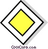 EU traffic sign, priority road Vector Clipart illustration