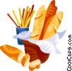 Vector Clip Art graphic  of a EU European cuisine baguette