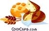 EU European cuisine French bread Vector Clipart picture