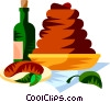 Vector Clipart graphic  of a EU European cuisine boudin