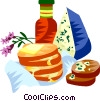 Vector Clip Art image  of a EU European cuisine