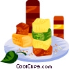 EU European cuisine candy jellies Vector Clip Art picture