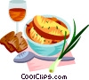 Vector Clipart picture  of a EU European cuisine French
