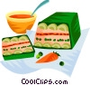 EU European cuisine vegetable terrine Vector Clipart graphic