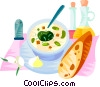 Vector Clipart picture  of a EU European cuisine cup of