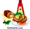EU European cuisine stuffed breast veal Genoese Vector Clip Art image