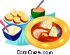 Vector Clip Art picture  of a EU European cuisine