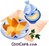 EU European cuisine briouat Vector Clip Art graphic