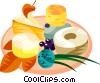 Vector Clip Art graphic  of a EU European cuisine cheese