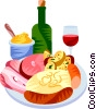 Vector Clipart graphic  of a EU European cuisine choucroute